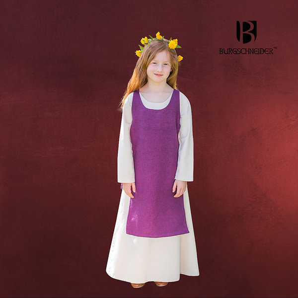 Mittelalter Kinder Überkleid Ylva lila