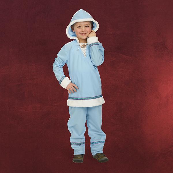 Eskimo Zweiteiler mit Kapuze - Kinderkostüm