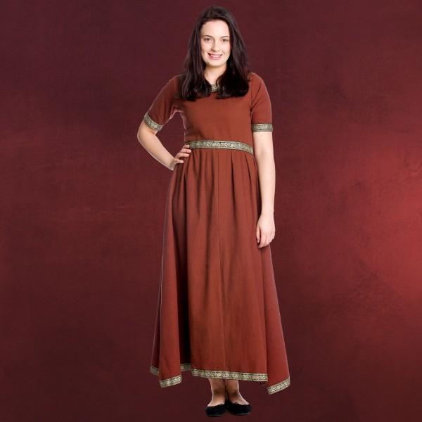 Mittelalter Kleid Ennlin mit Kurzarm rot