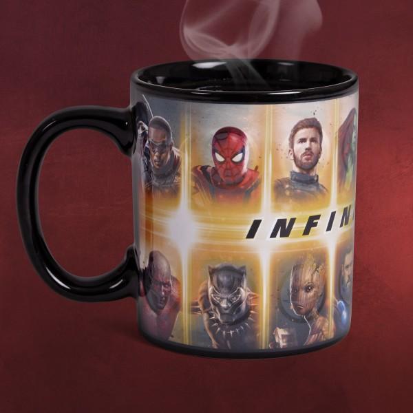Avengers - Infinity War Characters Thermoeffekt Tasse