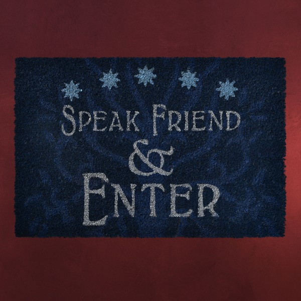 Herr der Ringe - Speak Friend & Enter Fußmatte