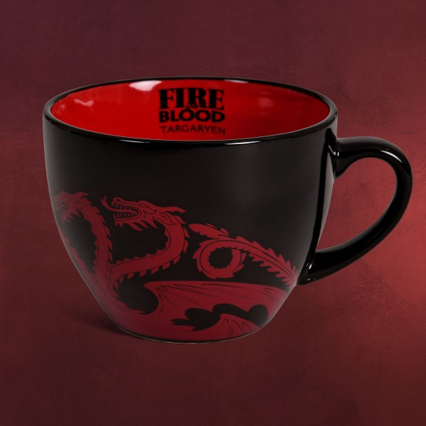 Game of Thrones - House Targaryen Tasse mit Schablone