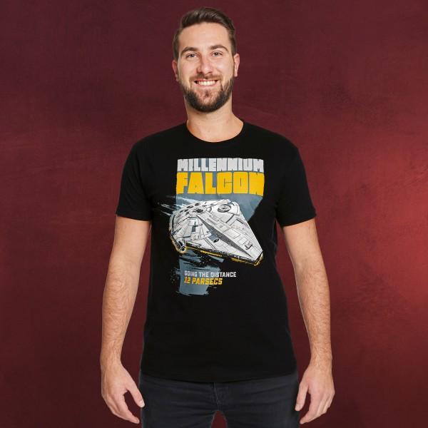 Star Wars - Millennium Falcon Retro T-Shirt schwarz