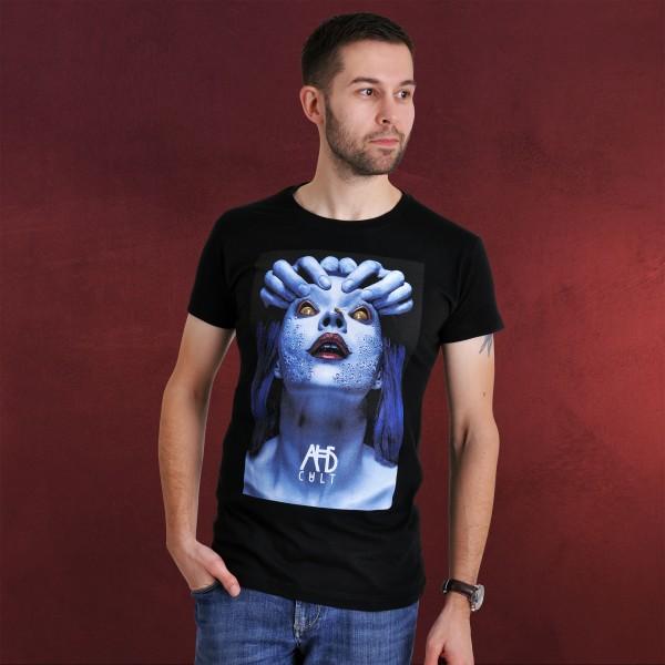 American Horror Story - Blue Bee Face T-Shirt schwarz