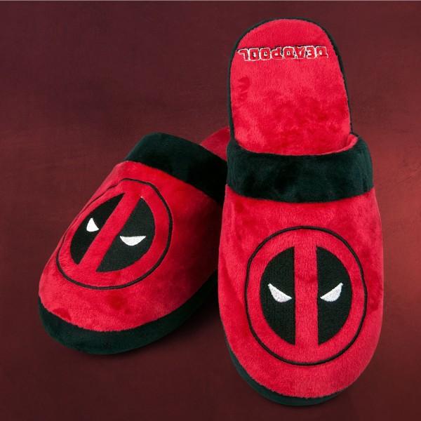 Deadpool - Logo Plüsch Pantoffeln