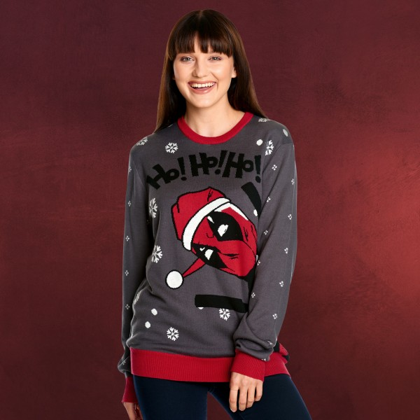 Deadpool - Ho! Ho! Ho! Strickpullover