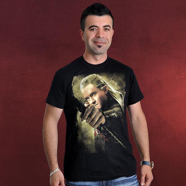 Hobbit - Legolas mit Bogen T-Shirt schwarz