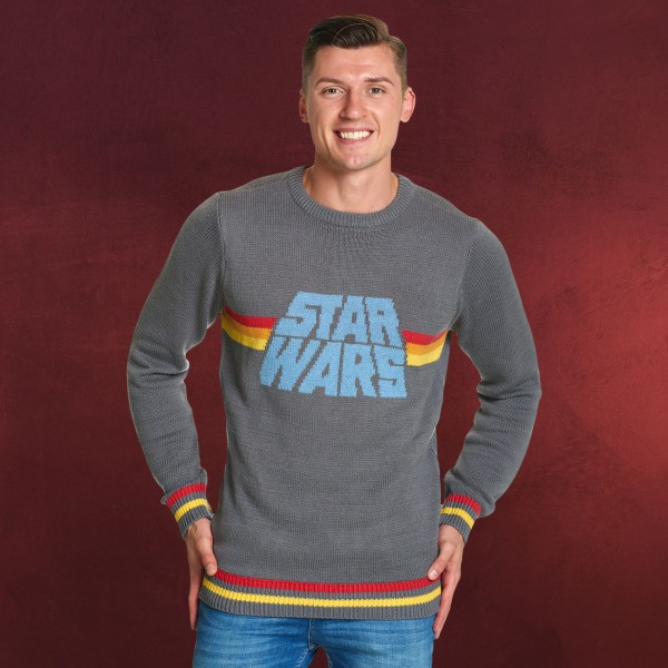 star wars vintage strick pullover herren elbenwald. Black Bedroom Furniture Sets. Home Design Ideas