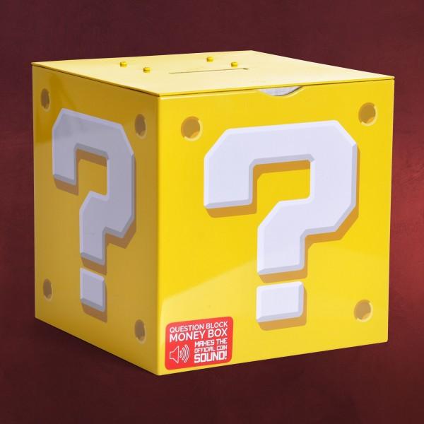 Super Mario - Fragezeichen Spardose mit Sound