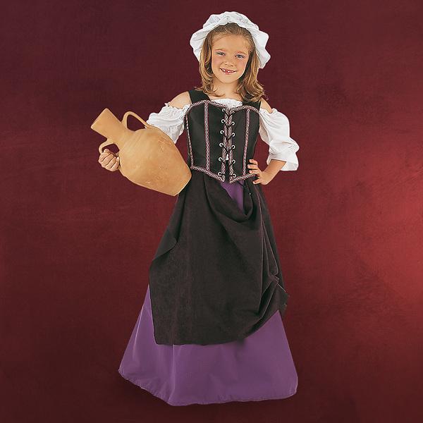 Mittelalterliche Wirtsfrau - Kinderkostüm