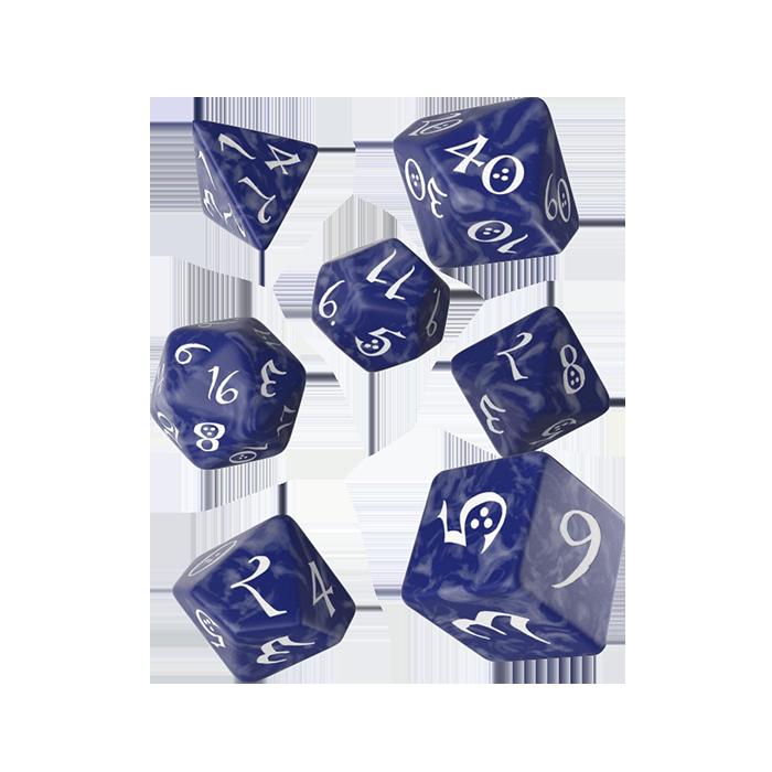 Classic RPG Würfel Set 7tlg blau-weiß