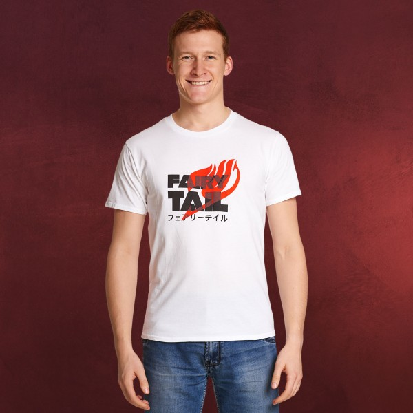Fairy Tail - Logo Katakana T-Shirt weiß