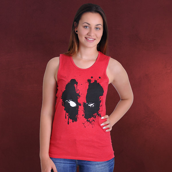 Deadpool - Splash Head Tank Top rot