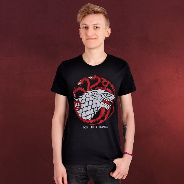 Stark & Targaryen For The Throne T-Shirt - Game of Thrones