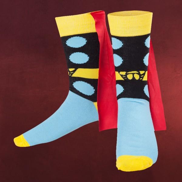 Thor - Marvel Socken mit Cape