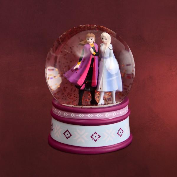Frozen - Anna und Elsa Schneekugel mit Glitter