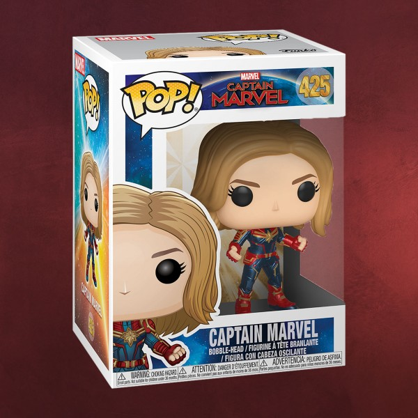Captain Marvel Funko Pop Wackelkopf-Figur