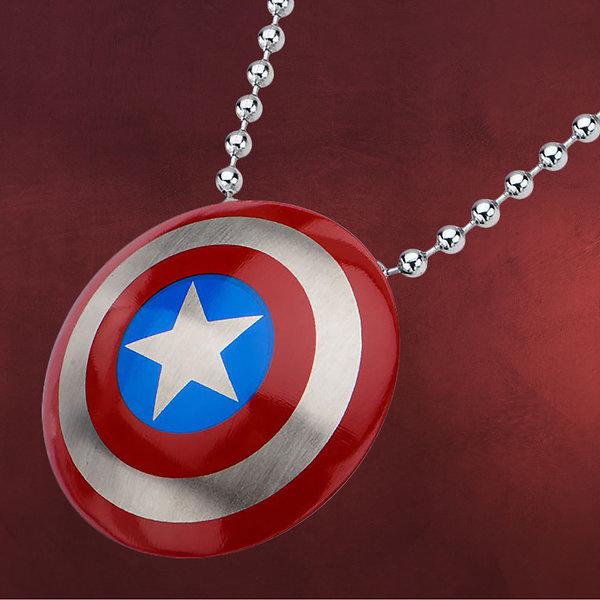 Captain America - Shield Logo Halskette