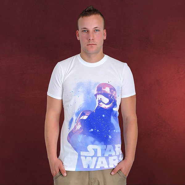 Star Wars - Phasma Galaxy T-Shirt weiß