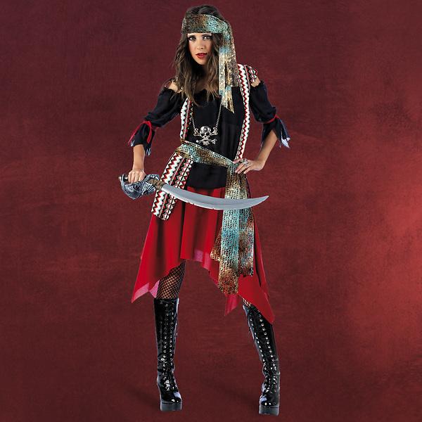 Feurige Piratin Damenkostüm