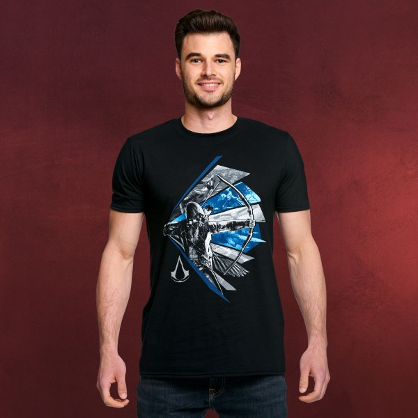 Assassins Creed - Bow Aiming T-Shirt schwarz
