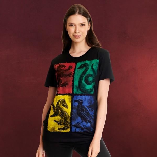 Harry Potter - Hogwarts Wappen distressed T-Shirt schwarz