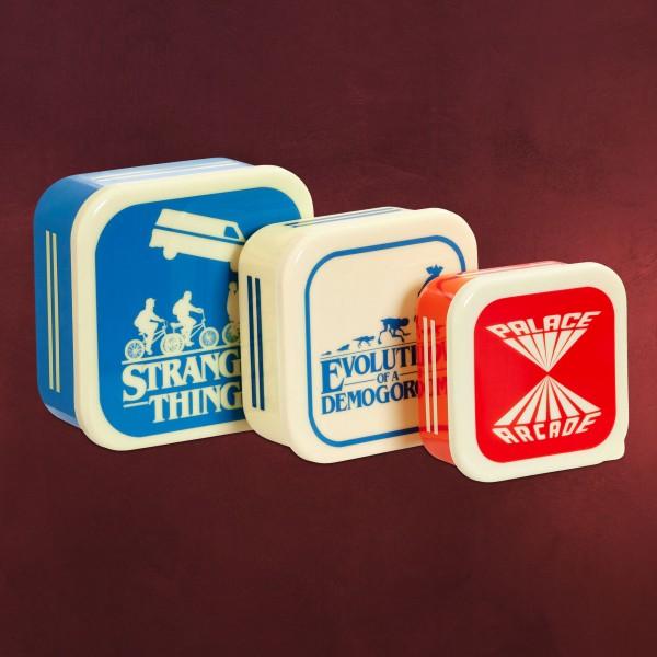 Stranger Things - Silhouettes Retro Lunchbox 3er Set