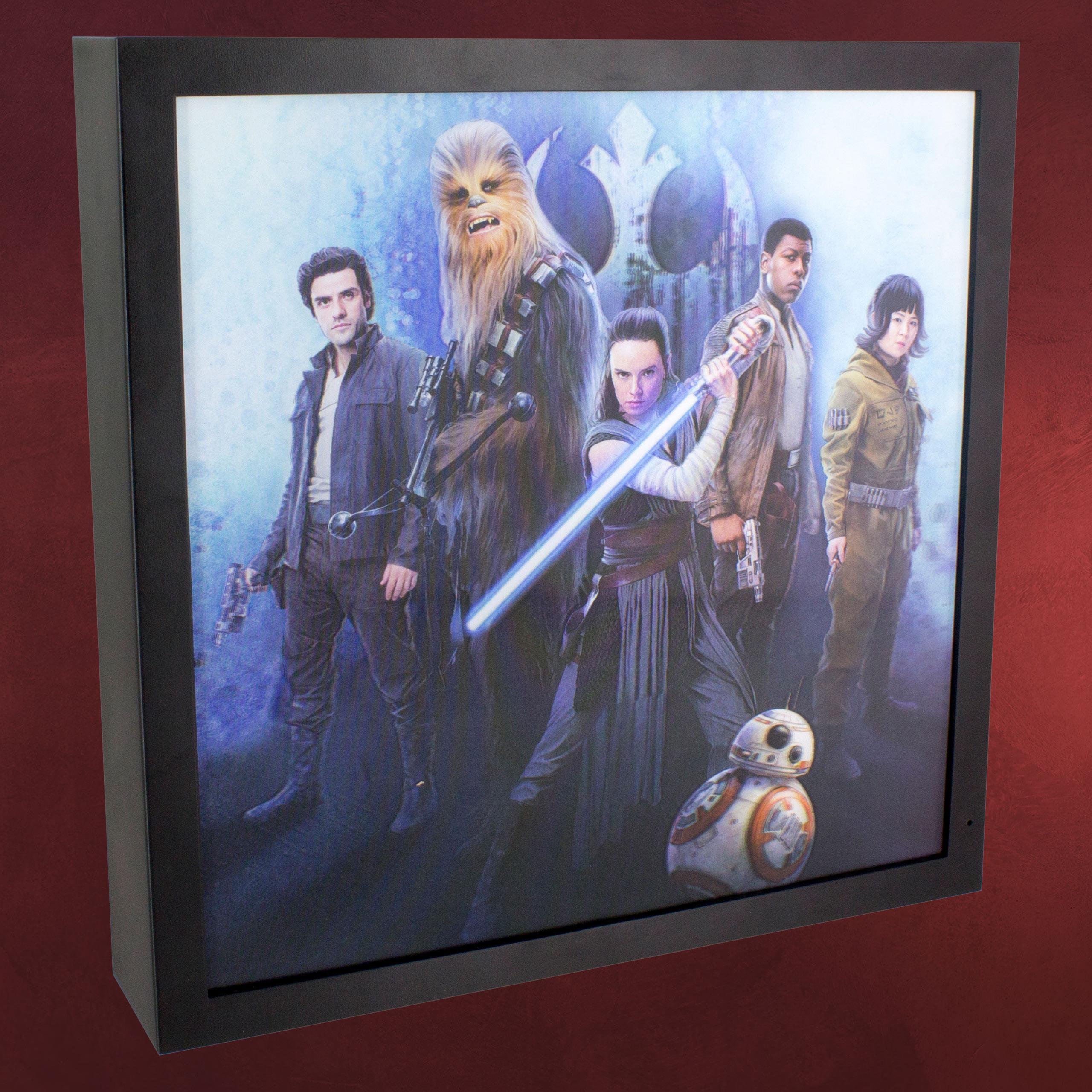 star wars characters wandbild mit licht elbenwald. Black Bedroom Furniture Sets. Home Design Ideas