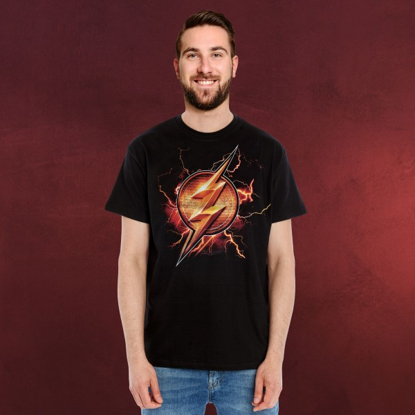 Flash - Logo T-Shirt Justice League schwarz