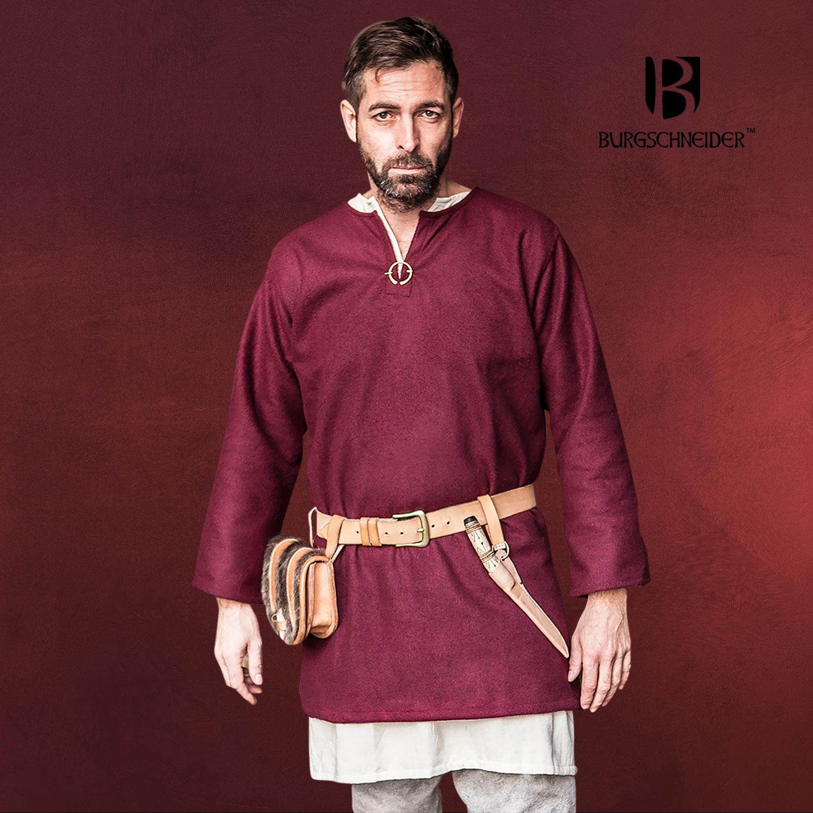 besser bestbewertet Heiß-Verkauf am neuesten Mittelalter Wolltunika Lodin rot