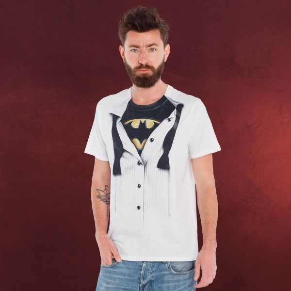 Batman - Suit T-Shirt weiß