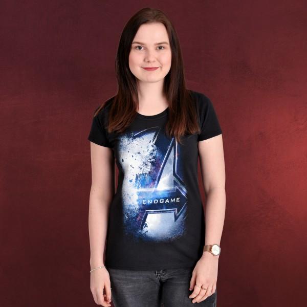 Avengers - Endgame Bursted Logo T-Shirt Damen schwarz