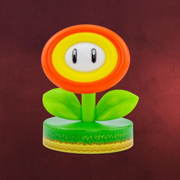 Super Mario - Feuerblume Icons 3D Tischlampe