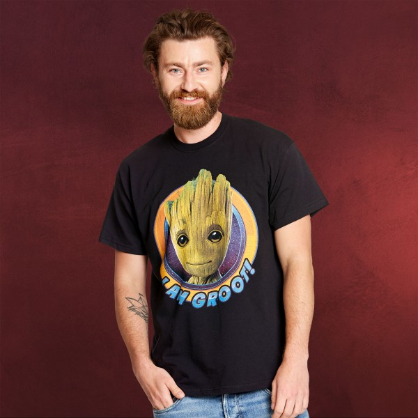 Guardians of the Galaxy - I Am Groot T-Shirt schwarz