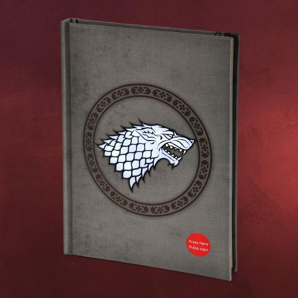 Game of Thrones - Stark Notizbuch mit Leuchtfunktion