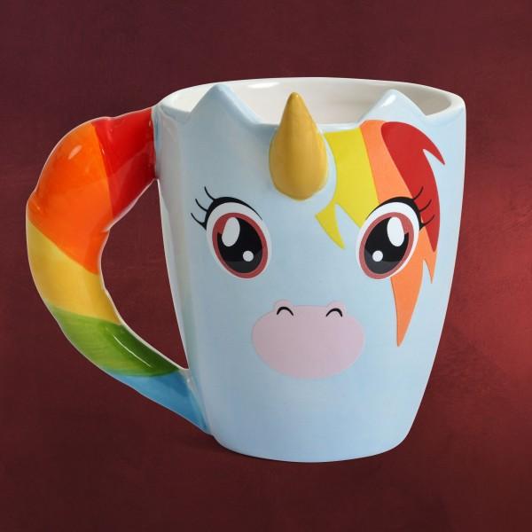 Einhorn 3D Tasse mit Horn