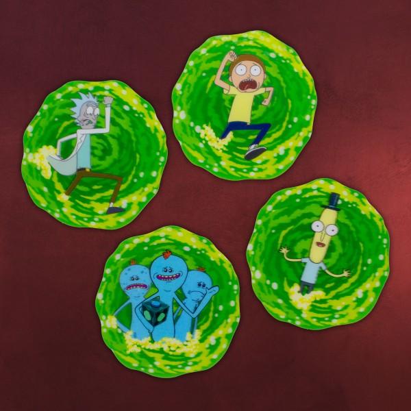 Rick and Morty - Portal 3D Untersetzer 4er Set