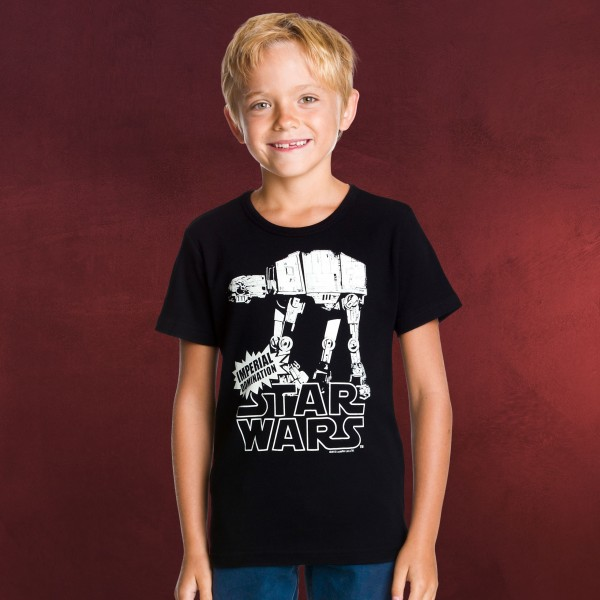 Star Wars - AT-AT Walker Kinder T-Shirt schwarz