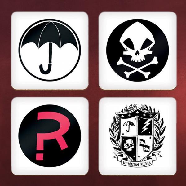 The Umbrella Academy - Symbols Untersetzer 4er Set
