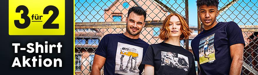 3 für 2 T-Shirt Aktion bei Elbenwald - 3 Shirts kaufen, nur 2 bezahlen - 12.-19.5.2021