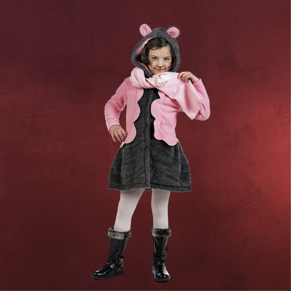 Lady Maus - Kostüm Kinder pink grau