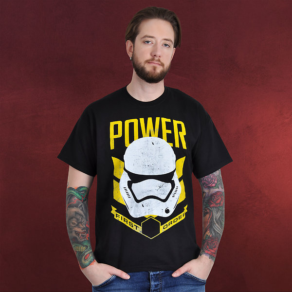 Star Wars - Stormtrooper Power T-Shirt schwarz