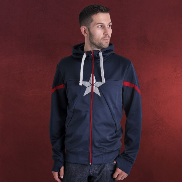 Captain America - Shield Logo Kapuzenjacke