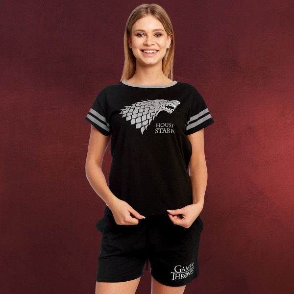 Game of Thrones - Stark Wappen Pyjama kurz Damen