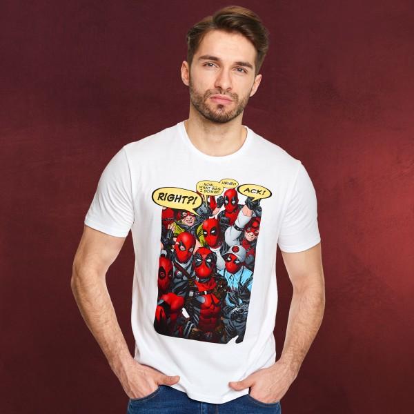 Deadpool - Selfie T-Shirt weiß