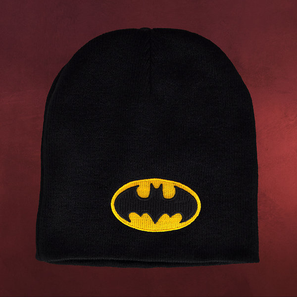 Batman - Logo Strick Mütze schwarz