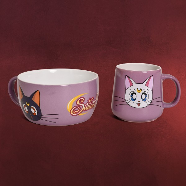 Sailor Moon - Luna und Artemis Frühstücksset