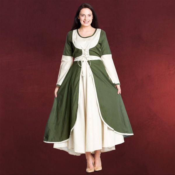 Mittelalterkleid Berit natur-oliv