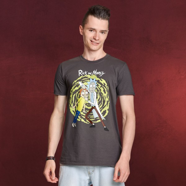 Rick and Morty - Spiral T-Shirt grau