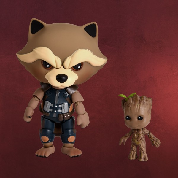 Guardians of the Galaxy - Rocket mit Groot Actionfigur Set